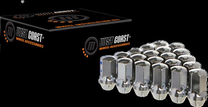 West Coast Accessories W5614SPKB Wheel Lug Nut /& Install Kit